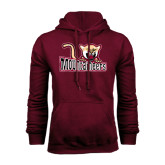 Maroon Fleece Hood-Mountaineers w/ Mountain Lion