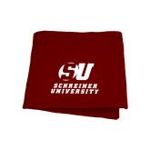 Maroon Sweatshirt Blanket-Official Logo