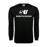 Black Long Sleeve TShirt-SU Mountaineers