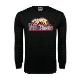 Black Long Sleeve TShirt-Mountaineers w/ Mountain Lion Walking