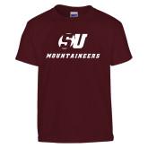 Youth Maroon T Shirt-SU Mountaineers