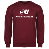 Maroon Fleece Crew-SU Mountaineers