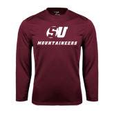 Performance Maroon Longsleeve Shirt-SU Mountaineers