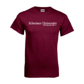 Maroon T Shirt-University Wordmark