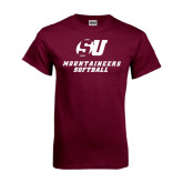 Maroon T Shirt-Softball