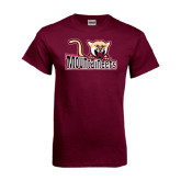 Maroon T Shirt-Mountaineers w/ Mountain Lion