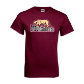 Maroon T Shirt-Mountaineers w/ Mountain Lion Walking