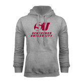 Grey Fleece Hoodie-Official Logo