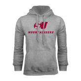 Grey Fleece Hood-SU Mountaineers