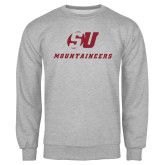 Grey Fleece Crew-SU Mountaineers