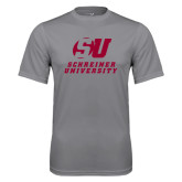 Performance Grey Concrete Tee-Official Logo