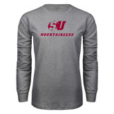 Grey Long Sleeve T Shirt-SU Mountaineers