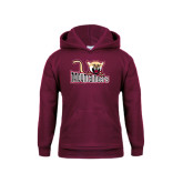 Youth Maroon Fleece Hoodie-Mountaineers w/ Mountain Lion