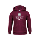 Youth Maroon Fleece Hood-Golf Design
