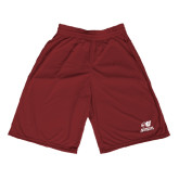Midcourt Performance Maroon 9 Inch Game Short-Official Logo