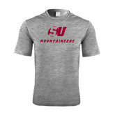 Performance Grey Heather Contender Tee-SU Mountaineers