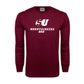 Maroon Long Sleeve T Shirt-Dad