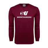 Maroon Long Sleeve T Shirt-SU Mountaineers