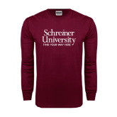 Maroon Long Sleeve T Shirt-University Mark