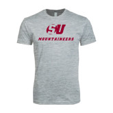 Next Level SoftStyle Heather Grey T Shirt-SU Mountaineers