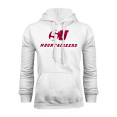White Fleece Hood-SU Mountaineers