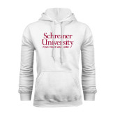 White Fleece Hoodie-University Mark