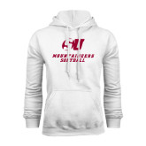 White Fleece Hood-Softball