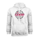 White Fleece Hood-Basketball Design