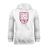 White Fleece Hood-Soccer Design