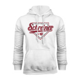 White Fleece Hood-Softball Design