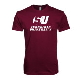 Next Level SoftStyle Maroon T Shirt-Official Logo