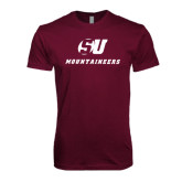 Next Level SoftStyle Maroon T Shirt-SU Mountaineers
