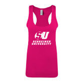 Next Level Ladies Raspberry Ideal Racerback Tank-Official Logo