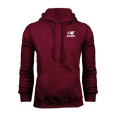 Maroon Fleece Hood-Official Logo