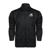 Black Heather Fleece Jacket-Official Logo