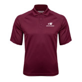 Maroon Textured Saddle Shoulder Polo-SU Mountaineers