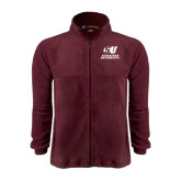 Fleece Full Zip Maroon Jacket-Official Logo