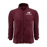 Fleece Full Zip Maroon Jacket-SU Mountaineers