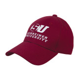 Maroon Heavyweight Twill Pro Style Hat-Official Logo