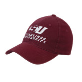 Maroon Flexfit Mid Profile Hat-Official Logo