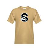 Youth Khaki Gold T Shirt-Secondary Logo