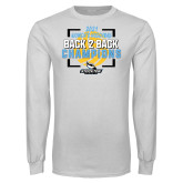 White Long Sleeve T Shirt-Stockton University 2021 Volleyball Champs