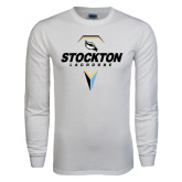 White Long Sleeve T Shirt-Lacrosse Design