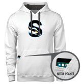 Contemporary Sofspun White Hoodie-Secondary Logo