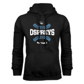 Black Fleece Hoodie-Softball Design