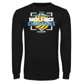 Black Long Sleeve T Shirt-Stockton University 2021 Volleyball Champs