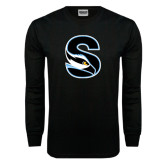 Black Long Sleeve TShirt-Secondary Logo