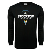 Black Long Sleeve TShirt-Lacrosse Design
