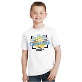 Youth White T Shirt-Stockton University 2021 Volleyball Champs
