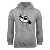 Grey Fleece Hoodie-Osprey Head